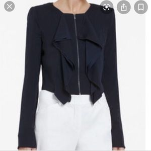 BCBGMaxazria Black Preston Cropped Jacket Blazer